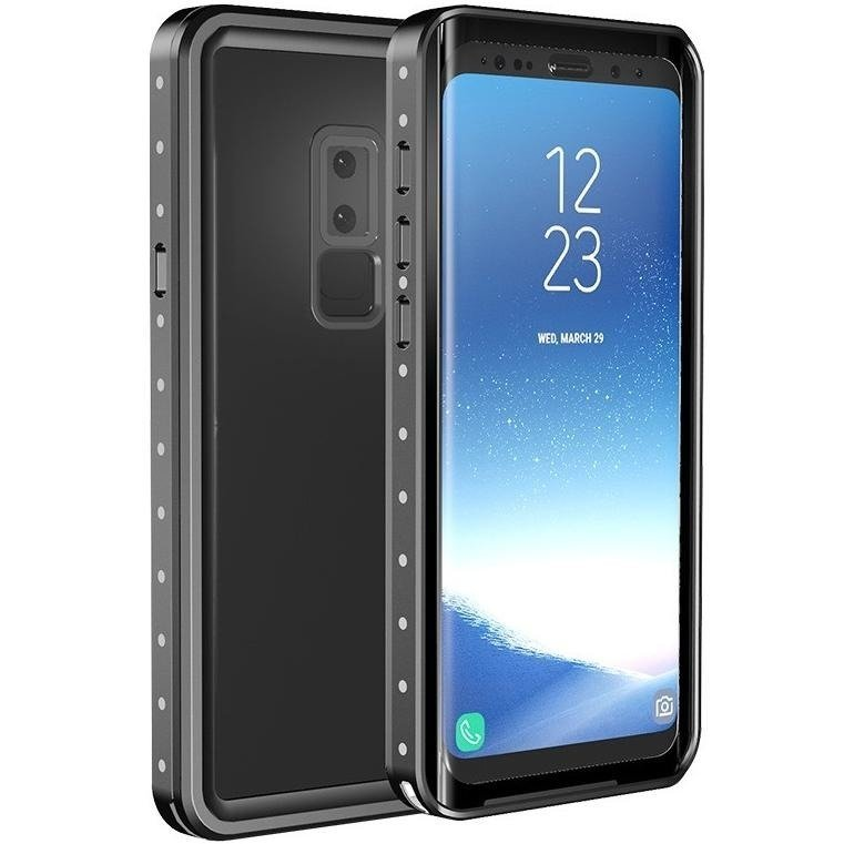 Waterproof IP68 2M Case for Samsung Galaxy S9 - Black .
