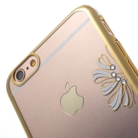 Gold Bumper + PC Back Case for iPhone 6/6S 4.7 - Dark Blue / Lucky Clover