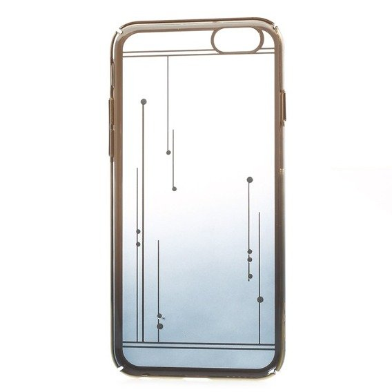 Gold Bumper + PC Back Case for iPhone 6/6S 4.7 - Dark Blue / Meteor Shower