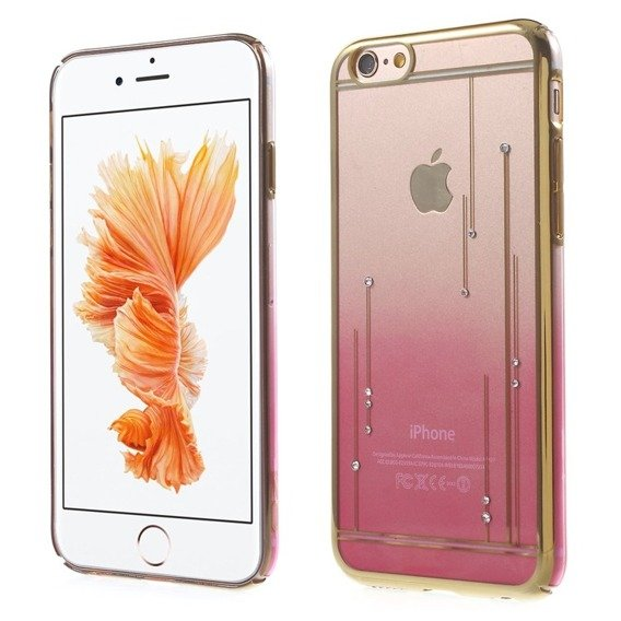 Gold Bumper + PC Back Case for iPhone 6/6S 4.7 - Pink / Meteor Shower