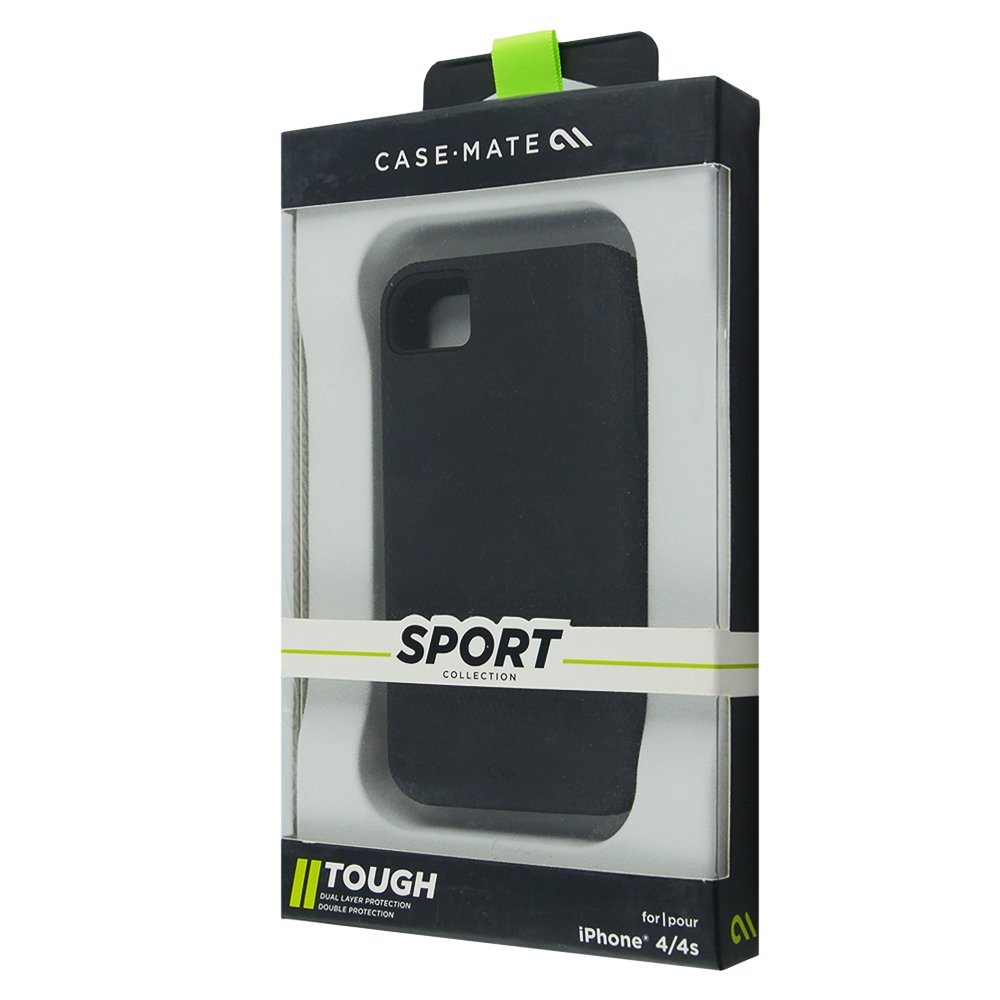 case mate hybrid tough h lle f r apple iphone 4 4s black. Black Bedroom Furniture Sets. Home Design Ideas