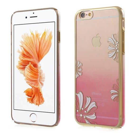 Gold Bumper + PC Back Hülle für iPhone 6/6S 4.7 - Pink / Lucky Clover