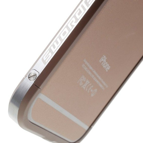 LJY Sword 6+ 2-Tone Bumper Case Hülle für Apple iPhone 6/6S 4.7 - Silver / Champagne