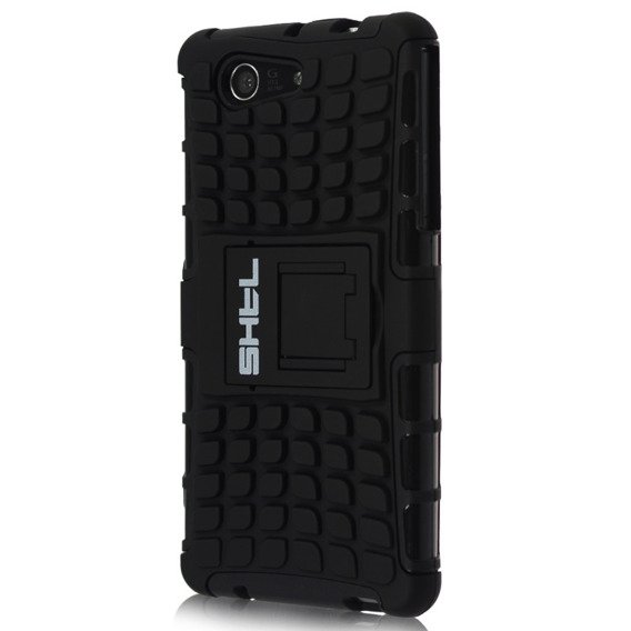 SHTL RUGGED ARMOR Hülle für Sony XPERIA Z3 Compact - Schwarz  Version 2