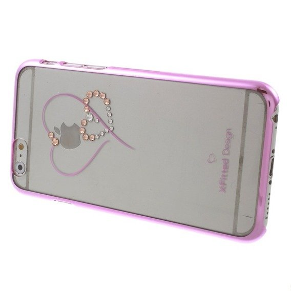X-FITTED Hearts Pattern Swarovski Hard Hülle für iPhone 6 / 6s 4.7- Pink