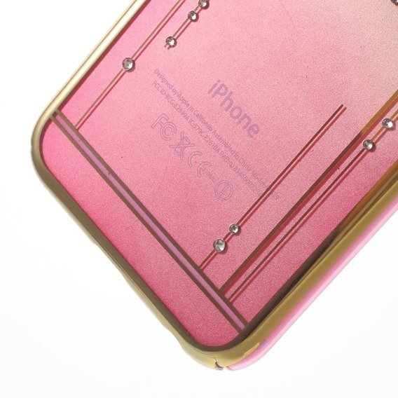 Etui Gold Bumper + PC Back iPhone 6/6S 4.7 - Pink / Meteor Shower
