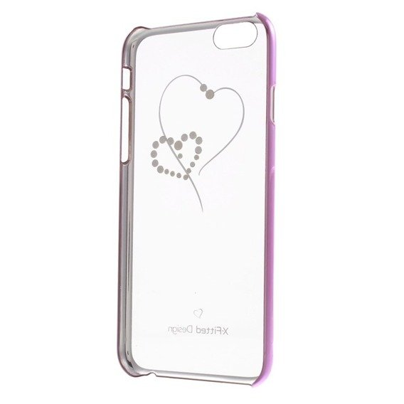 Etui X-FITTED Hearts Pattern Swarovski Hard Case iPhone 6 / 6s 4.7- Pink