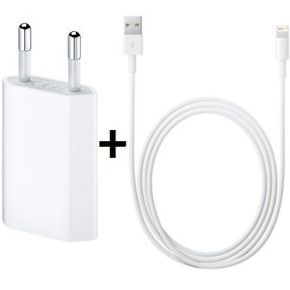 Apple MD813ZM/A Original USB Power Adapter with Data cable (8-pin) for iPhone 5/5S/SE/6/6S