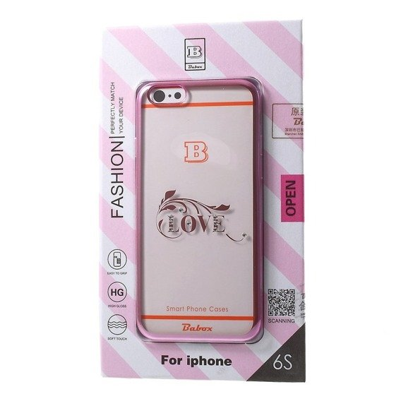 BABOX Rhinestone Plated TPU Case for iPhone 6/6s 4.7 - LOVE Pattern