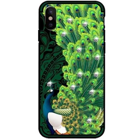 NXE Peacock Diamonds Elements Case for iPhone X 5.8 - Green