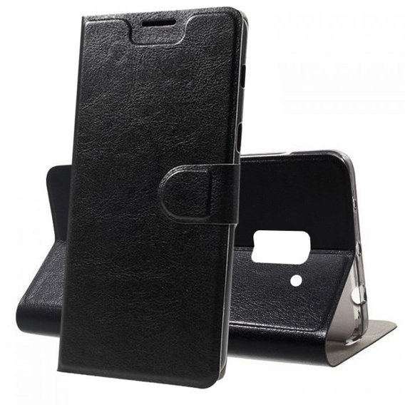 Flexi Book Stand Case for Samsung Galaxy A8 Plus 2018 - Black