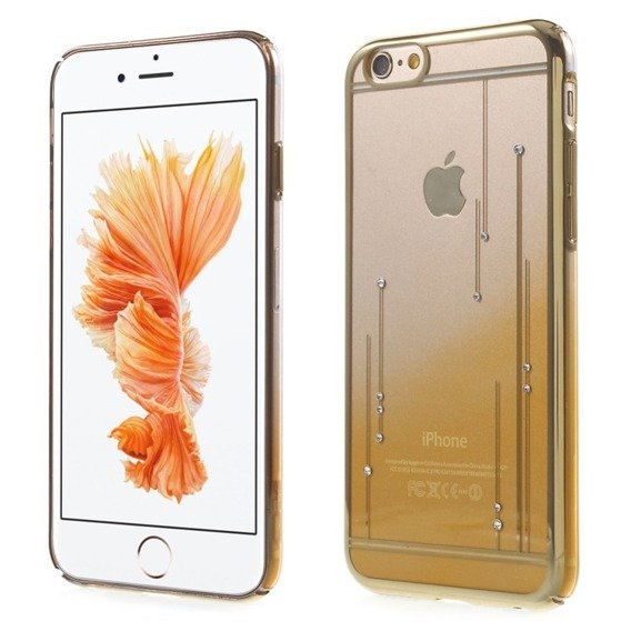 Gold Bumper + PC Back Case for iPhone 6/6S 4.7 - Yellow / Meteor Shower