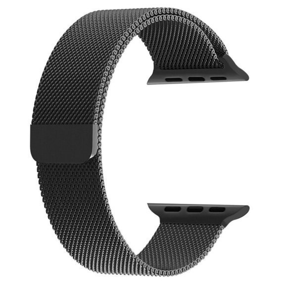 Milanese Stainless Steel Strap for Apple Watch 12/3 42mm - Black