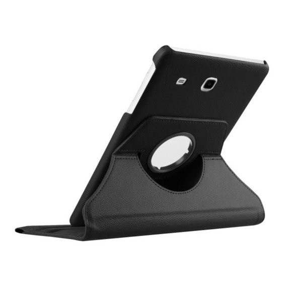 Rotary Stand Cover Case for Samsung Galaxy Tab E 9.6 T560 - Black