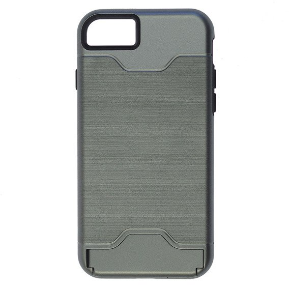 SHTL Brushed KickStand Armor Case for Apple iPhone 8/7 4.7 - Grey