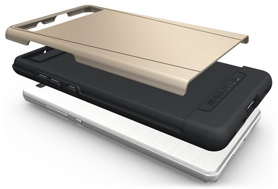 SHTLⓇ Dual Shell Case for Huawei P8 Lite - Gold