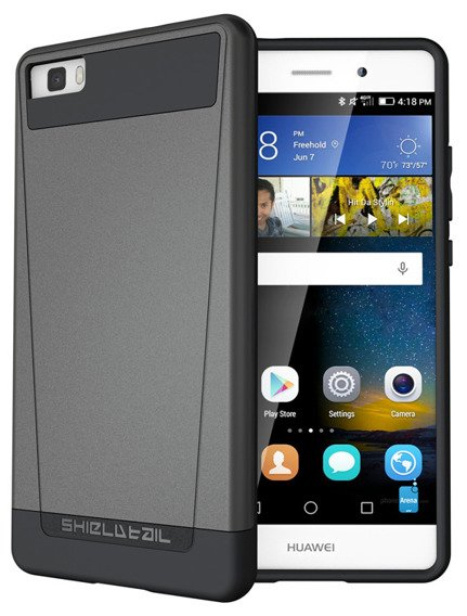 SHTLⓇ Dual Shell Case for Huawei P8 Lite - Grey