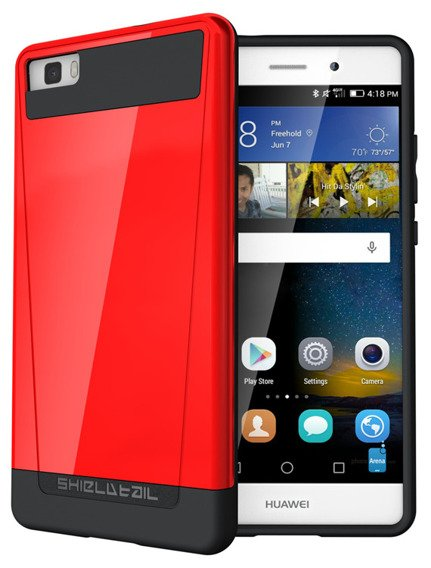 SHTLⓇ Dual Shell Case for Huawei P8 Lite - Red