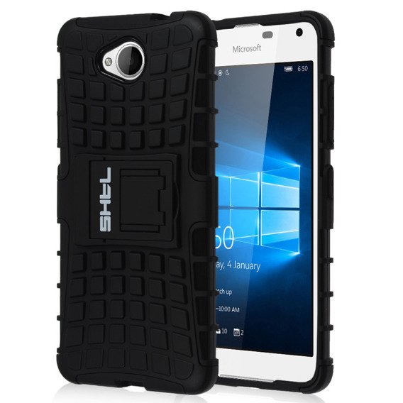 SHTL Rugged Armor Case for Microsoft Lumia 650 - Black