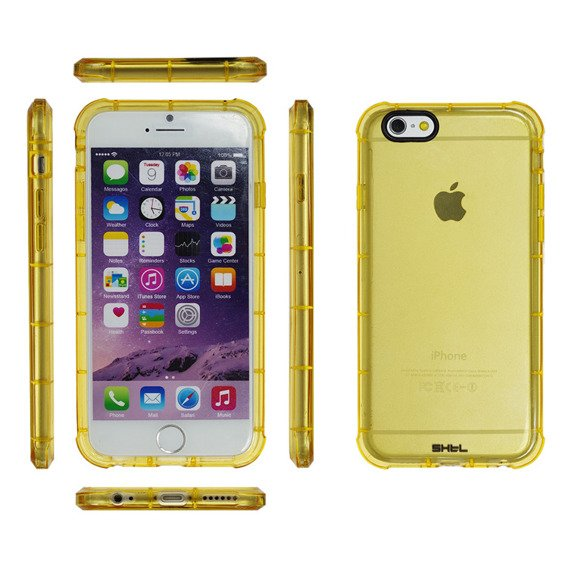 SHTL Strong Cusion Edges TPU Shell Case for iPhone 6/6S 4.7 - Gold