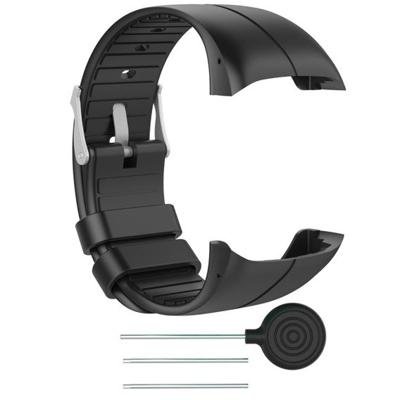 Silicone Soft Watch Band for Polar M400 - Black