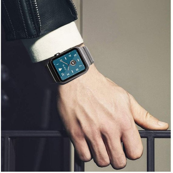 Steel Segments Strap with Butterfly Buckle for Apple Watch Series 3 / 2 / 1 42mm - Silver