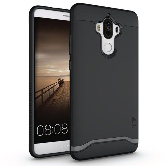 TUDIA Merge Case for Huawei Mate 9 - Matte Black + Glass Screen Protector