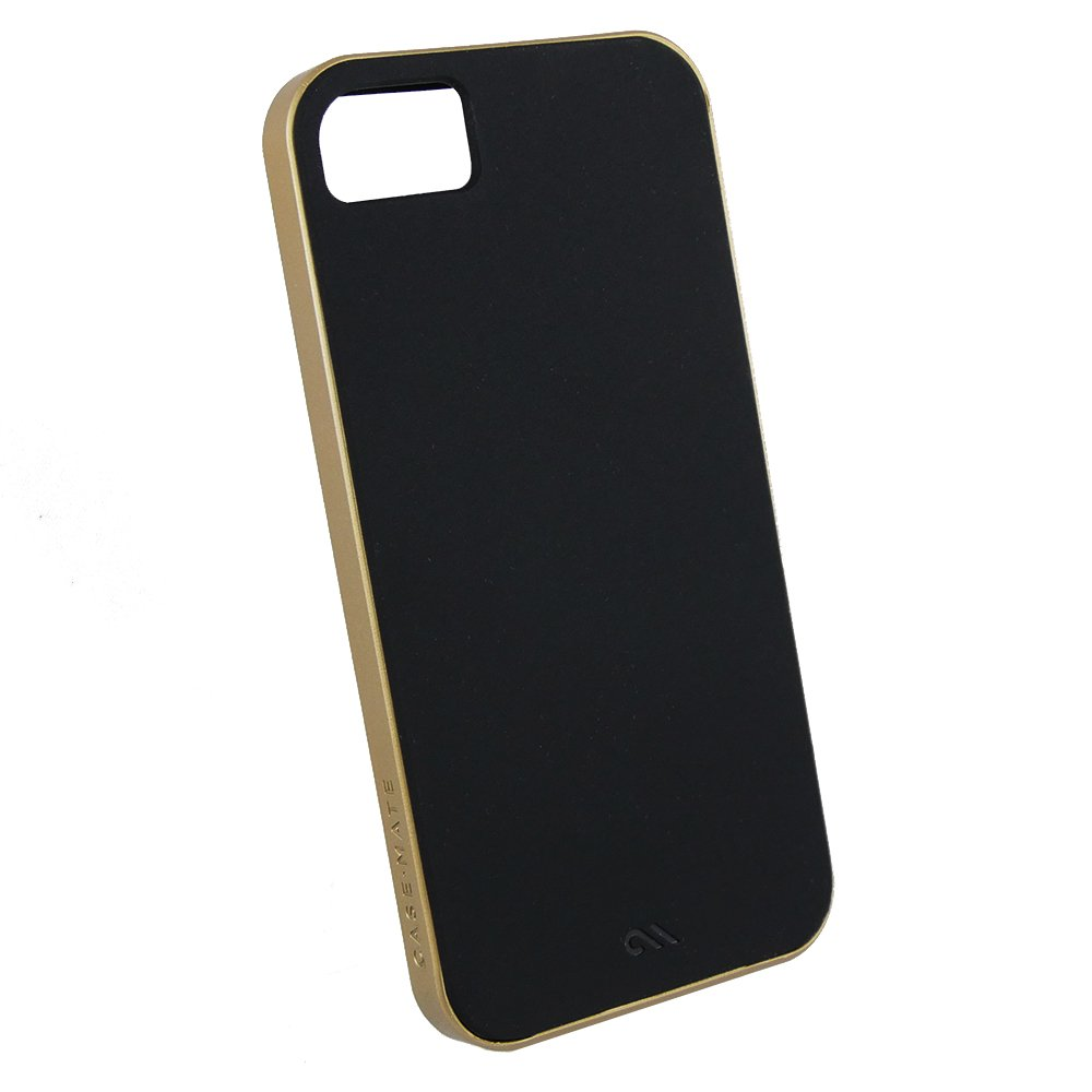 case mate slim tough case h lle f r apple iphone 5 5s se black gold schwarz gold apple. Black Bedroom Furniture Sets. Home Design Ideas