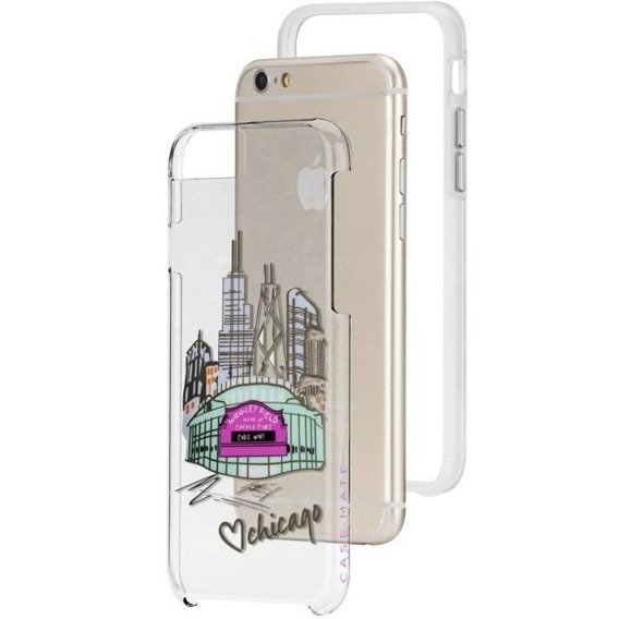 CASE-MATE Clear Tough Hülle für Apple iPhone 6/6S Plus 5.5 - Chicago Cubs