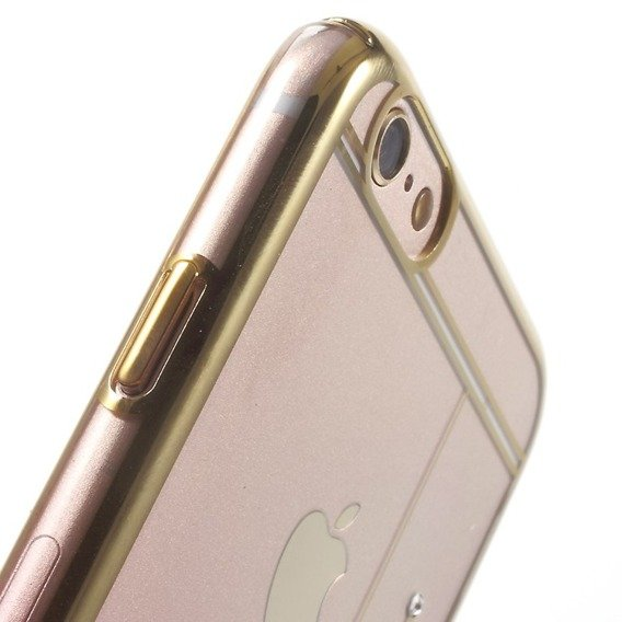 Gold Bumper + PC Back Hülle für iPhone 6/6S 4.7 - Pink / Meteor Shower