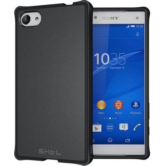 SHTL Strong Edges Smooth Case for Sony Xperia Z5 Compact - Black
