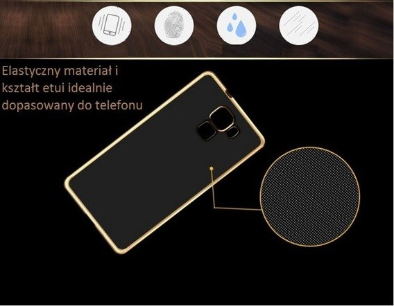 Vernickelt Edges Klare TPU für Huawei Honor 5X - Champagne Gold + Tempered Glass Screen Protector