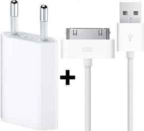 Zestaw APPLE Oryginalny Kabel + Adapter USB iPhone 3G 3GS 4 4S