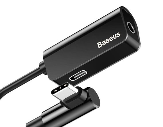 BASEUS L45 Adapter Audio USB Type-C Minijack 3,5mm - Black