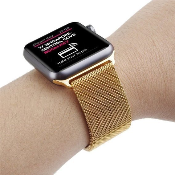Bransoleta Milanese do Apple Watch 1/2/3/4/5 (42/44MM) - Gold