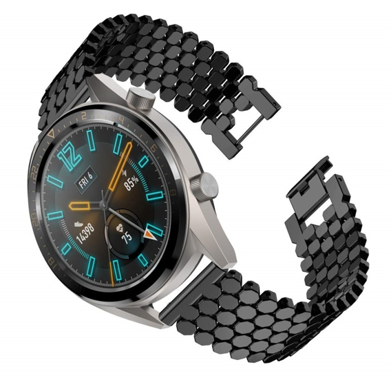Bransoleta Octagon Bracelet do Huawei Watch GT/Honor Watch Magic - Black