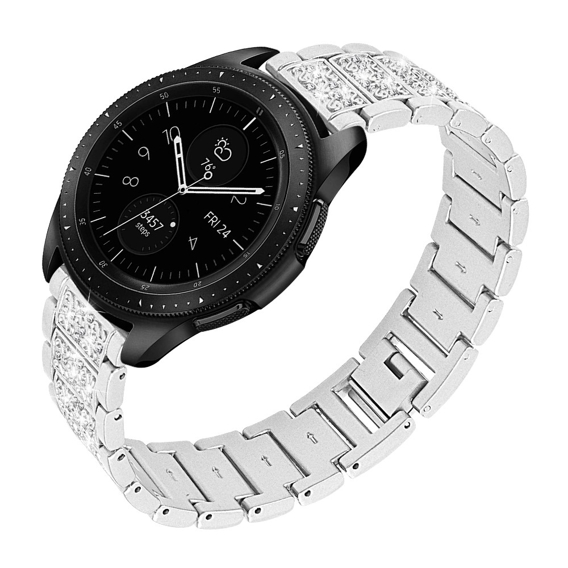 Bransoleta Rhinestone Decor do Galaxy Watch 46mm - Silver