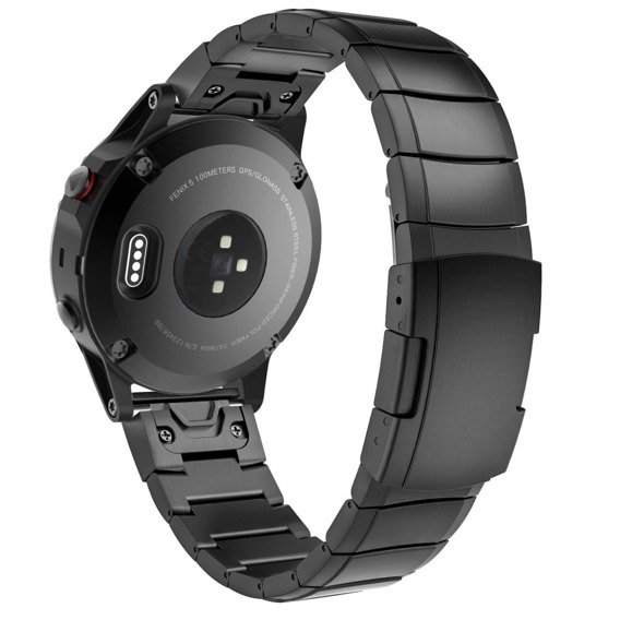 Bransoletka Steelband do zegarka Garmin Fenix 3/5X/3HR/5X Plus 6X/6X Pro 26mm - Black