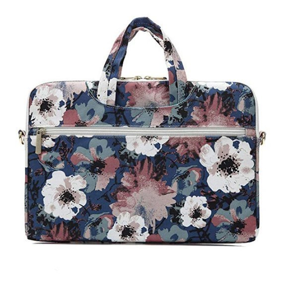 CANVASLIFE Briefcase Etui na laptopa 14 cali - Blue Camellia