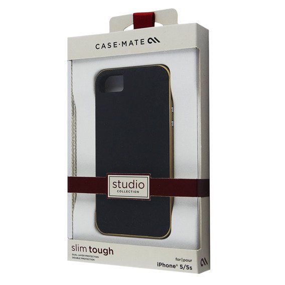 CASE-MATE Slim Tough Etui Apple iPhone 5 5S SE - Black/Gold
