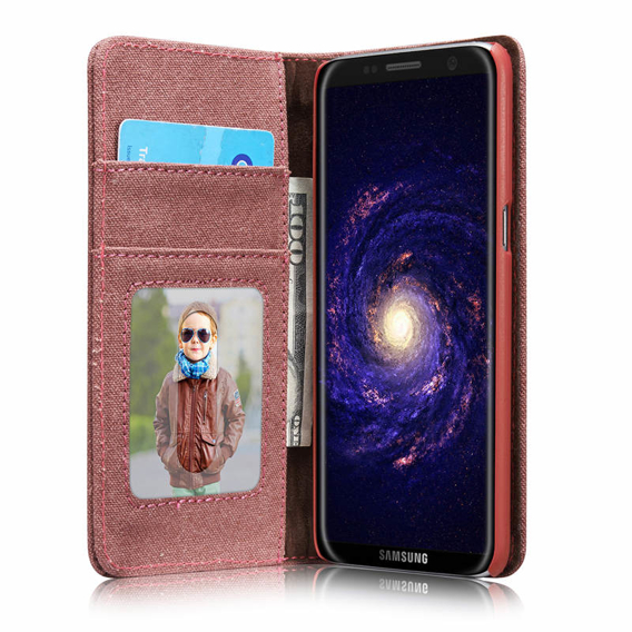 CASEME Etui Canvas Skin Case Samsung Galaxy S8 Plus - Red