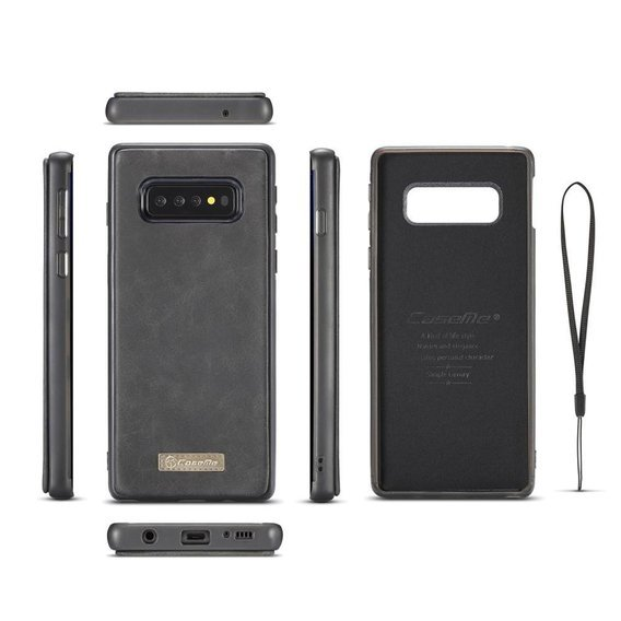 CASEME Skórzane Etui 2in1 Wallet do Samsung Galaxy S10 Plus - Black