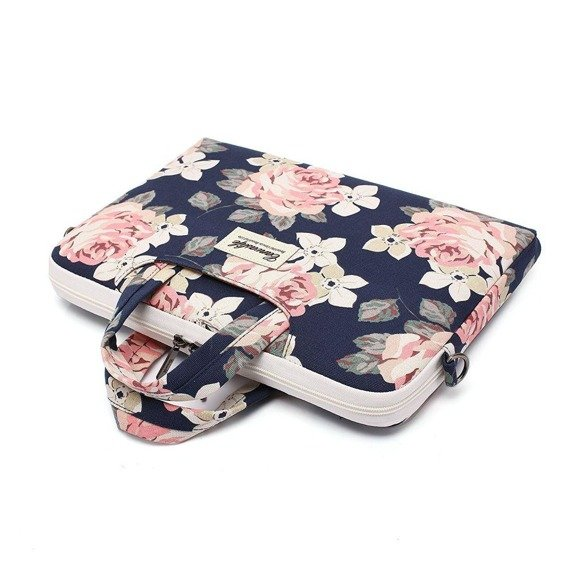 Canvaslife Etui Briefcase do MacBook Pro 15/Pro 16 2019 - navy rose