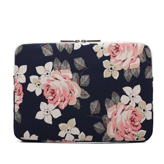 Canvaslife Etui Sleeve do MacBook Pro 15/Pro 16 2019 - Navy Rose