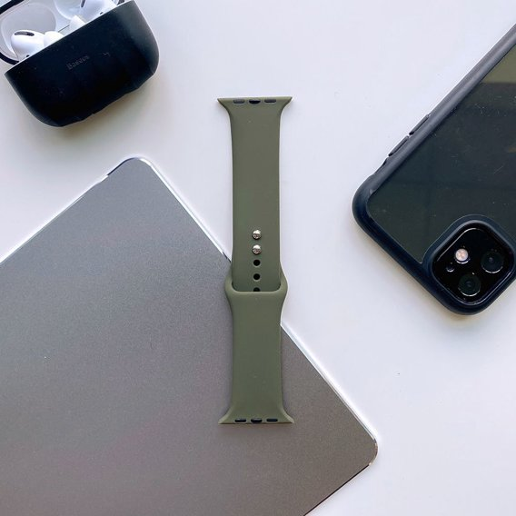 Ciemno zielony(Army Green) Pasek Smoothband do Apple Watch 1/2/3/4/5 (38/40MM)