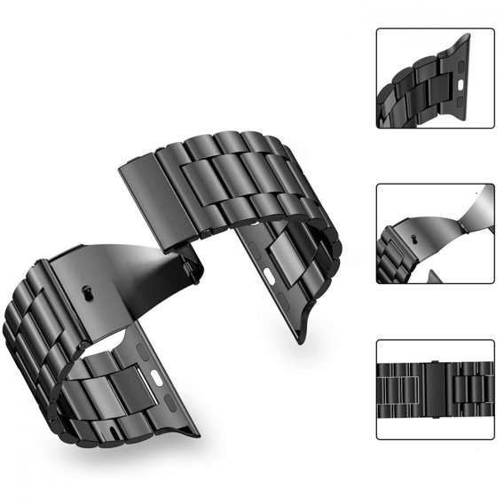 Czarna Bransoletka/Pasek SlimLink do Apple Watch 1/2/3/4 (42/44MM)