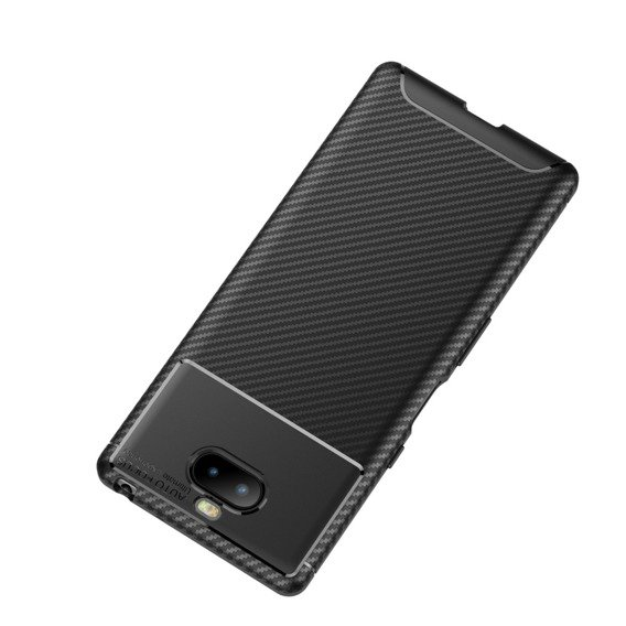 Czarne Etui CARBON Gel Sony Xperia 10 Plus