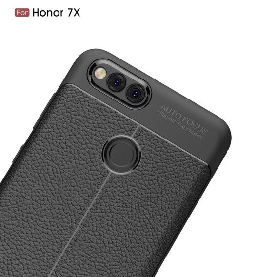 Czarne Etui Football Grain TPU Case Huawei Honor 7X