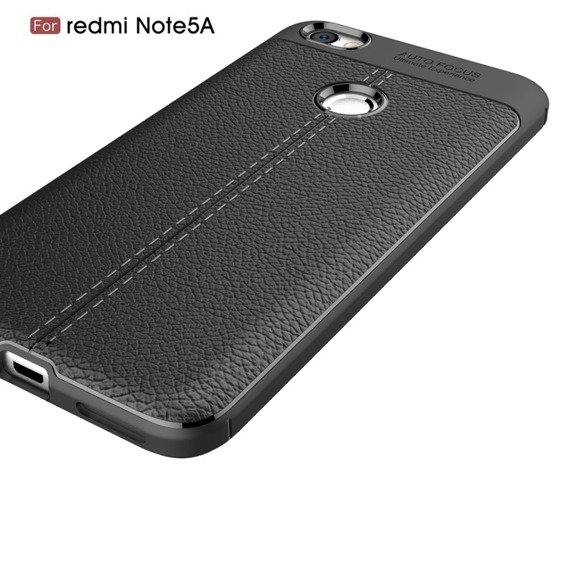 Czarne Etui Football Grain TPU Case Xiaomi Redmi Note 5A