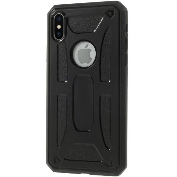 Czarne Etui PROTECTION SHELL Case Apple iPhone X 5.8